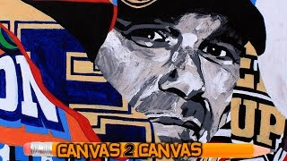 The Champ hits the canvas: WWE Canvas 2 Canvas