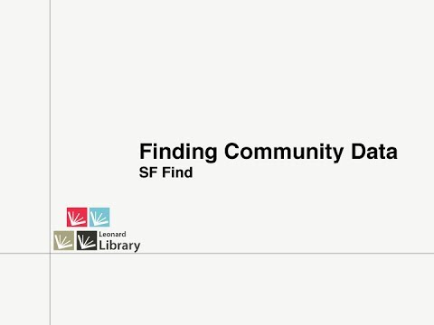 Finding Community Data - SF FIND