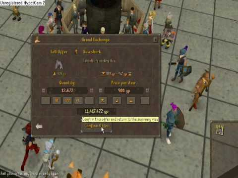 runescape selling 13k sharks after 2 weeks of fishing