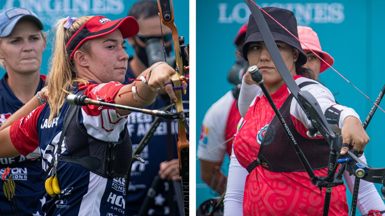 USA v Mexico – recurve women's team gold   Final Olympic qualifier 2021