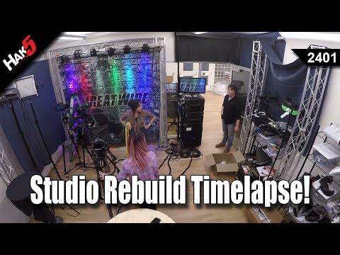Studio Rebuild Timelapse! - Hak5 2401