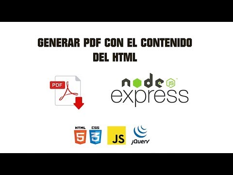 HTML to PDF - Nodejs/Express