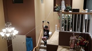 CRAZY INDOOR ZIPLINE!!