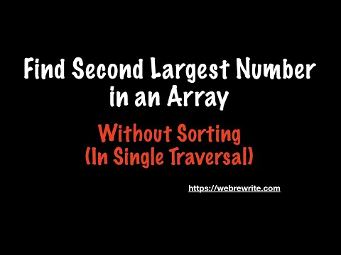 Java Program to Find the Second Highest Number in an Array