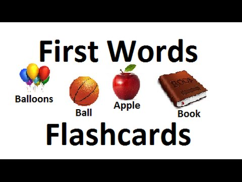 First Words Flashcards for Babies Toddlers PreK- K  / Learning Videos