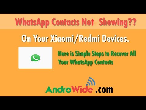 Whatsapp Contacts Not Showing on Xiaomi Redmi Phones [Solved]