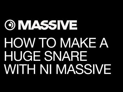 NI Massive tutorial - Make that Huge Snare You've Dreamed