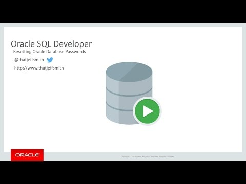Resetting Your Oracle Database Password with Oracle SQL Developer
