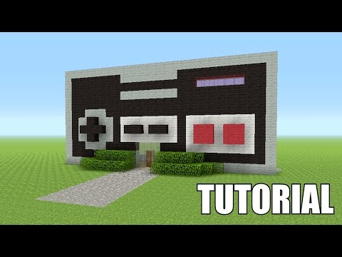 Minecraft Tutorial: How To Make A NES CONTROLLER!! (Survival House)