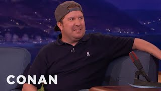Nick Swardson Learned Not To Get Cocky Around Fire  - CONAN on TBS