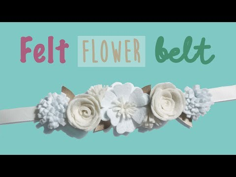 How to make an easy felt  flower belt DIY