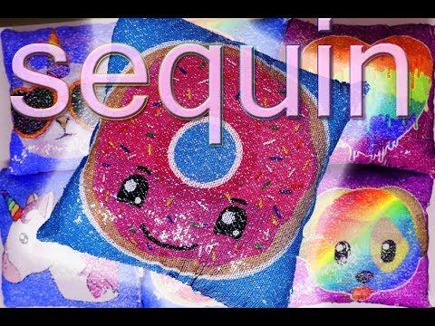 Designer Reversible Sequin Pillows - Emoji Icons