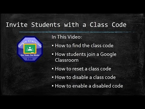 Invite students to Google Classroom with a Classroom Code
