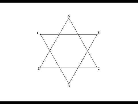 How to draw a Star of David (six pointed star)