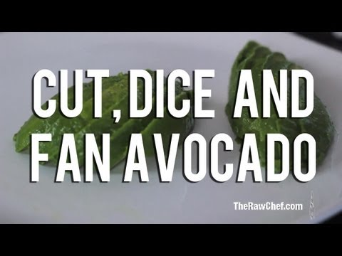 The Raw Chef TV | How to cut, dice and fan avocados for your raw food recipes
