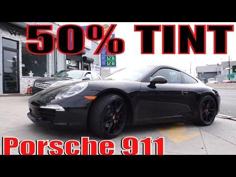 Tinting a porsche 911 in 50% Tint @ (Winning Window Tints)