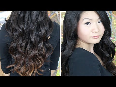 How to | Everyday Easy Casual Loose Curls/ Waves (using a curling wand) | Eva Chung