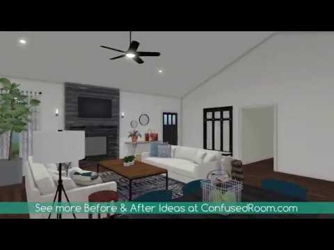 Modern Living Room Design Before & After   DIY & Home Design
