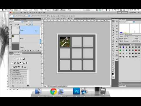 How To Use Photo Templates in Photoshop