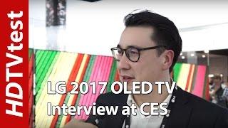 LG 2017 OLED TV (W7, G7, E7, C7, B7): CES Interview