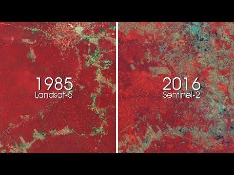 ESA shows 30 years of deforestation in Amazon rainforest