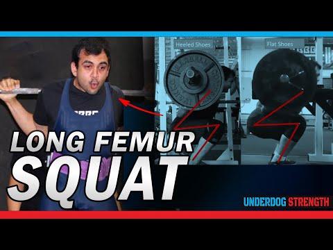 Long Femur Squat | How to Squat Deeper If You Have Long Legs