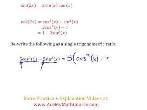 Double Angle Identities (Trigonometry) - Question #5