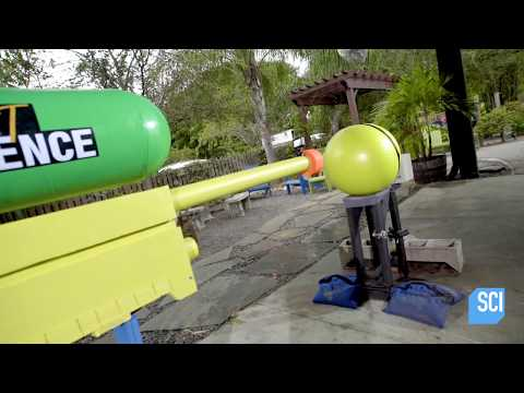 Let's See What This Giant Water Pistol Can Do! | Street Science