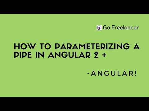 How to Parameterizing a pipe in Angular 2 +
