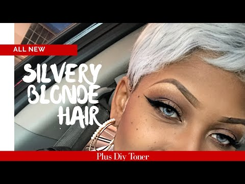 From Black to Platinum Blonde Hair | Simplest Toning Process