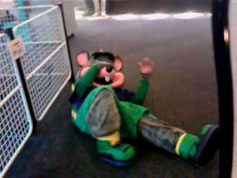 CHUCK E CHEESE PASSES OUT FROM EXHAUSTION