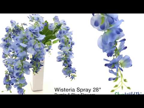Hanging Florals for Weddings - Purple Wisteria by ShopWildThings