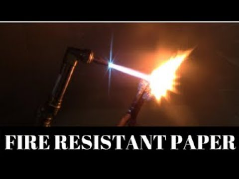 How to make Fire resistant Paper!