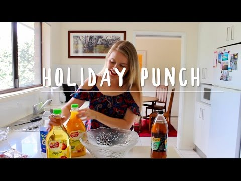 HOW TO MAKE EASY NON-ALHOLIC CHRISTMAS PUNCH