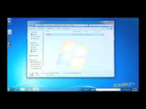 How to Customize Toolbars, Taskbars, and Menus in Windows 7 For Dummies