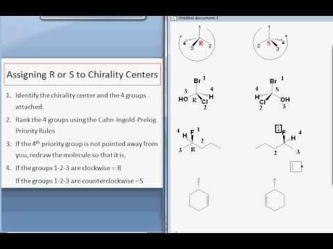 Assigning R and S to Chirality Centers