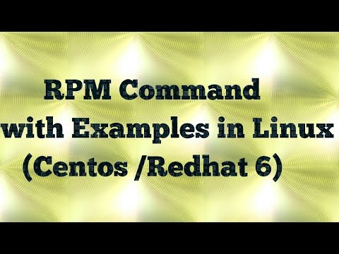 Linux rpm command with examples (centos/redhat 6)
