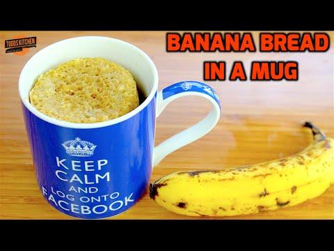 Moist Banana Bread Recipe in a Mug