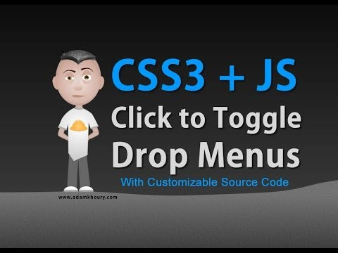 Toggle Function Click Drop Down Menus CSS3 JavaScript Tutorial