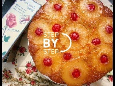 Pineapple Upside Down Cake Recipe from Scratch, How to Make Pineapple Upside Down Cake, (Part 1)