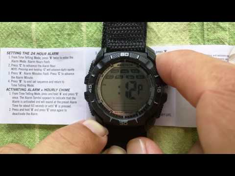 Turn off the alarm for the Armitron IW-YP2585-2 watch