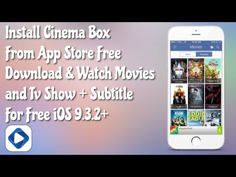 Install Cinema SG From AppStore; Download Movie + Subtitle For Free iOS 9.3.3