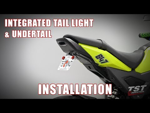 Part 1 - How to install Undertail & Integrated Tail light on a 2017+ Honda Grom by TST Industries