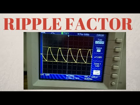 Effect of Resistance on Ripple Factor of Full Wave Bridge Rectifier