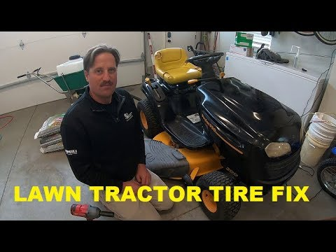 How to change a TIRE on a LAWN TRACTOR mower