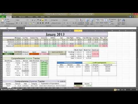 How to Make a Budget in Excel - Aux. 3