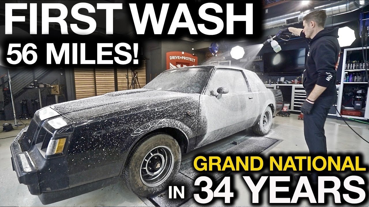 First Wash in 34 Years. 56 Miles! Barn Find Buick Grand National