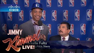 Jimmy Kimmel Talks to Philadelphia 76ers #1 NBA Draft Pick Markelle Fultz
