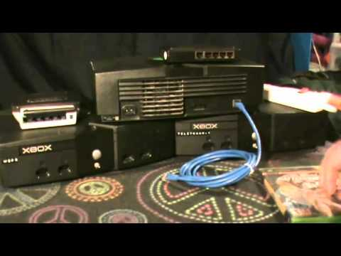A scene from MCTV: Xbox LAN system link setup tutorial