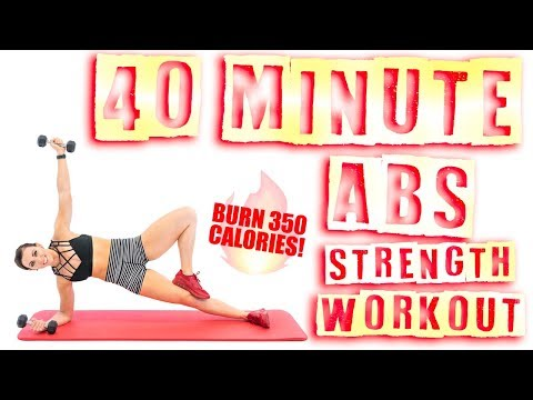40 Minute Abs Strength Workout 🔥Burn 350 Calories! 🔥
